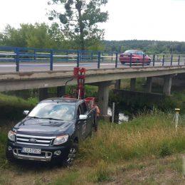 Wiercenie pod most na rzece Włodawce