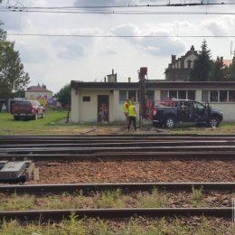 Wiercenie pod wiadukt kolejowy, Rzeszów
