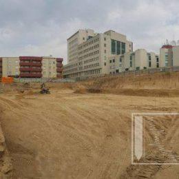 Dno wykopu na budowie przy ul. Pana Balcera