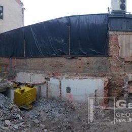 Wykonywanie mikropali na obiekcie przy ul. Żeromskiego w Zamościu (projekt GeoNep)