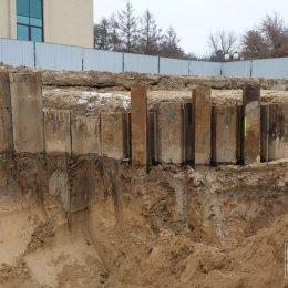 Pogłębianie wykopu z zabezpieczeniem w postaci ścianki szczelnej przy ul. Głębokiej w Lublinie (projekt GeoNep)