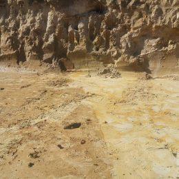 Granica zmiany rodzaju gruntu w wykopie fundamentowym