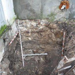 Odkrywka fundamentów budynku w Kazimierzu Dolnym