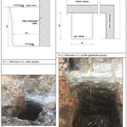 Karta odkrywki fundamentu przy ul. Staszica w Lublinie