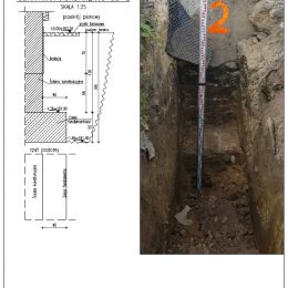 Karta odkrywki fundamentu w miejscowości Jacków