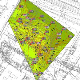 Mapa gruntów nośnych na terenie badań przy ul. Staszica w Lublinie